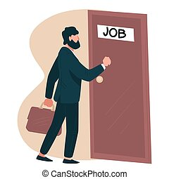 Candidate on vacant place in company going on interview - ...