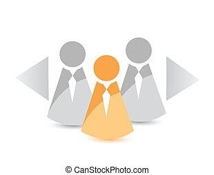 candidate selection concept illustration design
