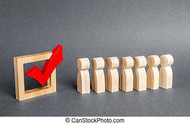 candidates., concept., poll., referendum, gens, day., rouges, voting., démocratique, file, faire la fête, vote, élections, elections., technologies., campagne, politique, tique, volontaires, social, ligne
