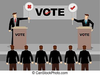 Candidates in Debate for Election Vector Illustration - Two...