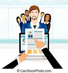 candidato, currículo, recrutamento, trabalho, posição, vitae