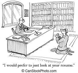 candidato lavoro, elemosinare