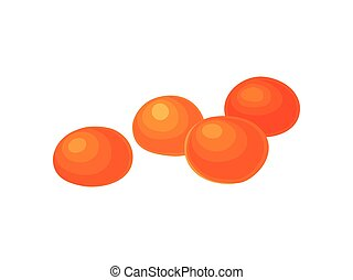 Candied orange on white background. Realistic vector ...