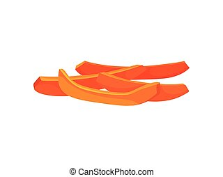 Candied pumpkin slices on a white background. Realistic ...