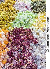 Candies at Jerusalem Market, Israel
