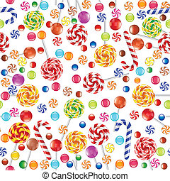 Candies background - seamless background with candies,...