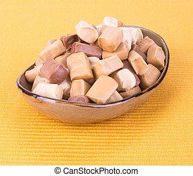 candies. caramel candies. caramel candies on a background. caramel candies on a background.