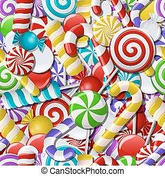 candies., coloridos, fundo, seamless