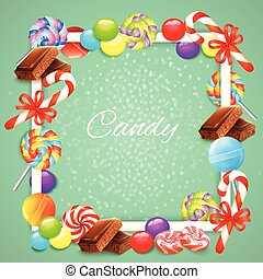Candies Frame Background