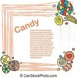 Candies frame