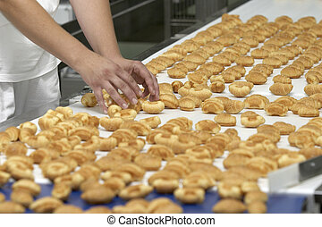 candies industry 10 - worker in interior of food industry ...
