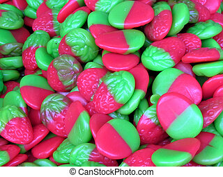 Candies the form a raspberry