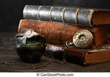 Candle And Books
