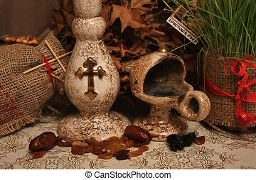 Candle and incense holder for traditional orthodox ritual