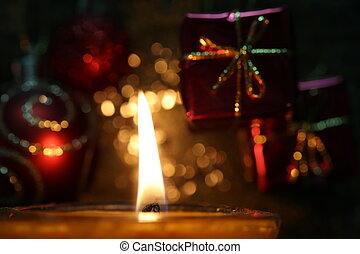 Candle at Christmas