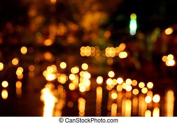 Candle bokeh background. - Candle de focus or bokeh ...