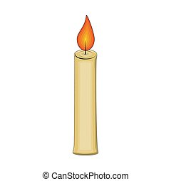 candle cartoon for christmas design isolated on white background