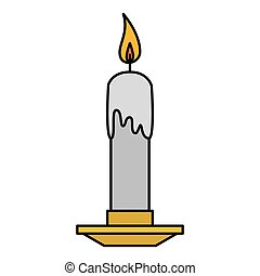 candle church isolated icon