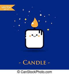 Candle. Vector, illustration, eps10.