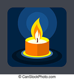 Candle concept background, cartoon style