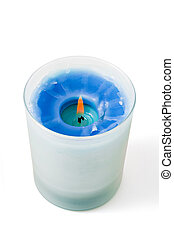 Candle cut out on white. File with clipping path