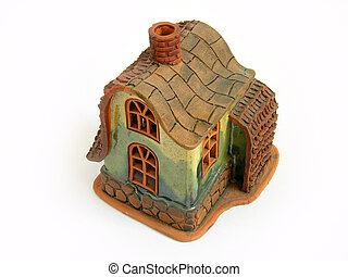 Candle Decoration House, aroma, brown roof