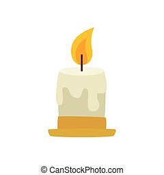 candle decorative christmas isolated icon