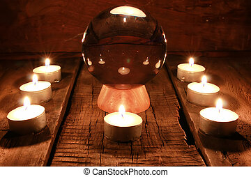 candle divination tarot cards - various vintage elements on ...
