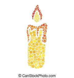 candle dot icon isolated on white background
