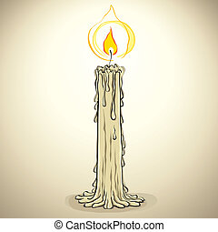 Candle. - Candle, vector illustration.