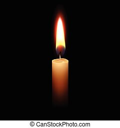 Candle Flame Fire Light Isolated Background