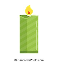 candle flat green