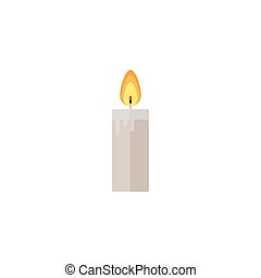 Candle flat icon, religion church elements,