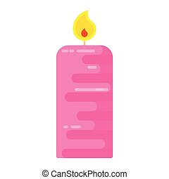 candle flat pink
