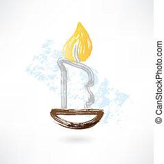 candle grunge icon