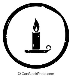 Candle halloween icon vector illustration on white background