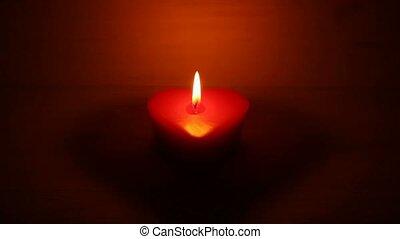Candle heart shape
