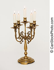 Candle holder isolated on a white background
