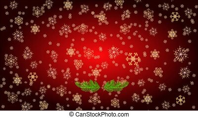 Candle holly and poinsettia video - Animation of...