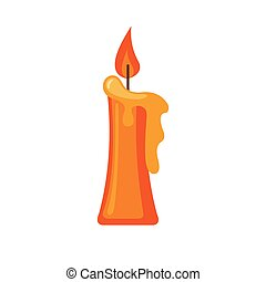 Candle icon in flat style. - Candle icon in flat style...