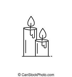 candle icon in line art style. Vector illustration esp 10