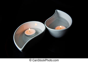Candle In Ceramic Container