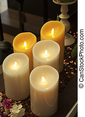 Candle in health spa.
