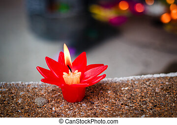 Candle in temple of Thailand.
