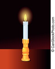 Candle in the dark vector