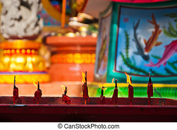candle in the temple