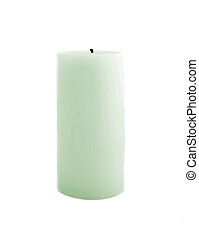 Candle isolated on white