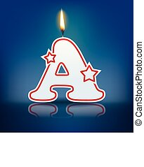 Candle letter A