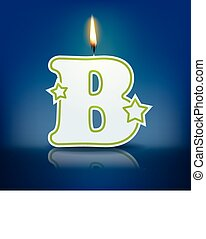 Candle letter B
