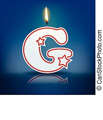 Candle letter G